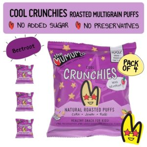 Buy The mumum co. - Beetroot Crunchies - (20g Bag x 4) - 80g Online