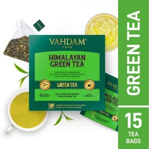 Buy Vahdam Teas - Herbal Himalayan Green Tea - 15 Tea Bags - 30g (100% Natural Ingredients) Online