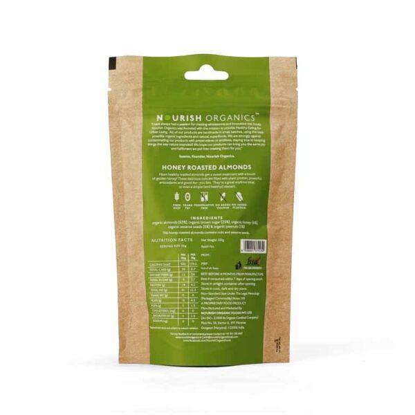 Buy Nourish Organics - Honey Roasted Almonds - 100g (Gluten Free) Online