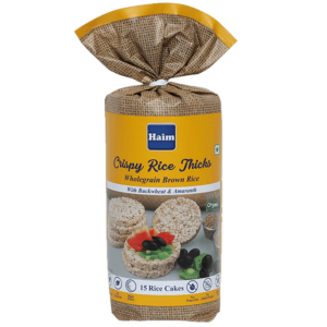 Buy Haim - Crispy Rice Thicks-Wholegrain Brown Rice Cake with Buckwheat and Amaranth - 110g Online