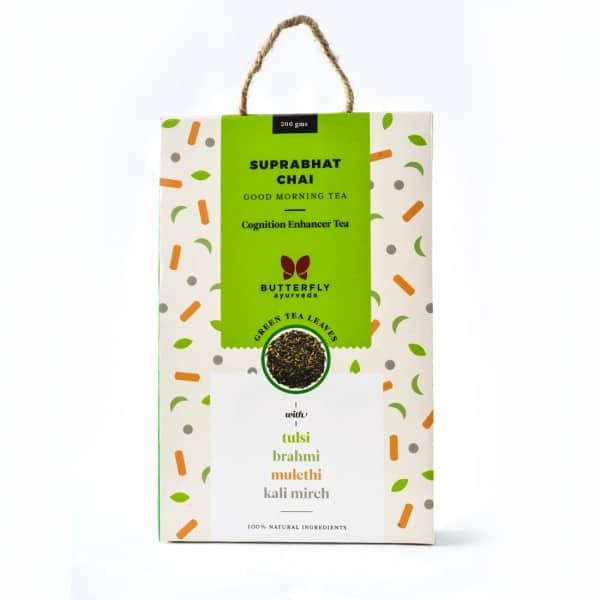 Buy Butterfly Ayurveda - Suprabhat Chai (Tulsi + Green Tea) - 200g Online