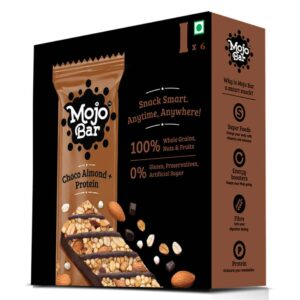 Shop Mojo Bar - Choco Almond + Protein - Energy Bar - (Pack of 6) - 210g Online