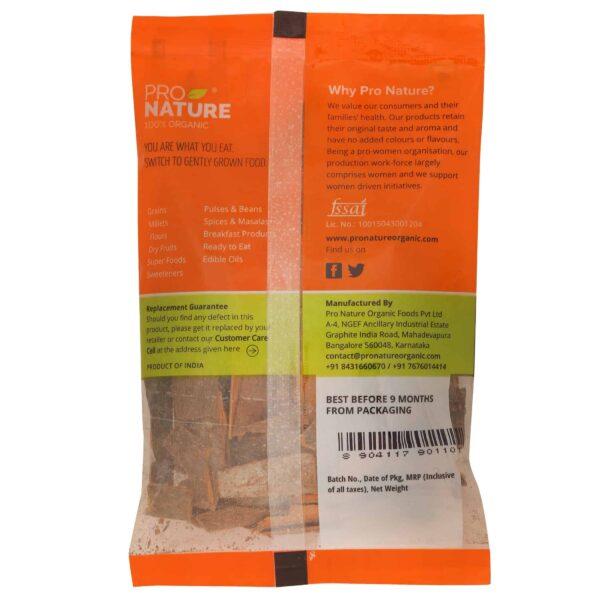 Buy Pro Nature - Cinnamon Bark - 50g (100% Organic) Online