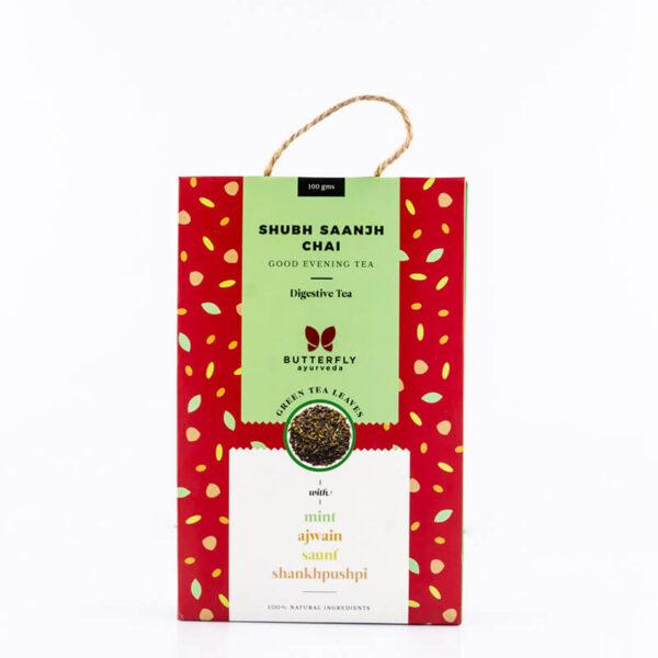 butterfly-ayurveda-shubh-saanjh-chai-mint-green-tea-100g
