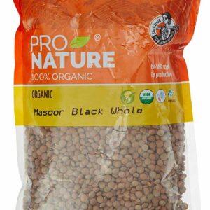 Buy Pro Nature - 100% Organic Masoor Black Whole - 500g Online