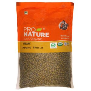 Shop Pro Nature - 100% Organic Moong Green Whole - 500g Online