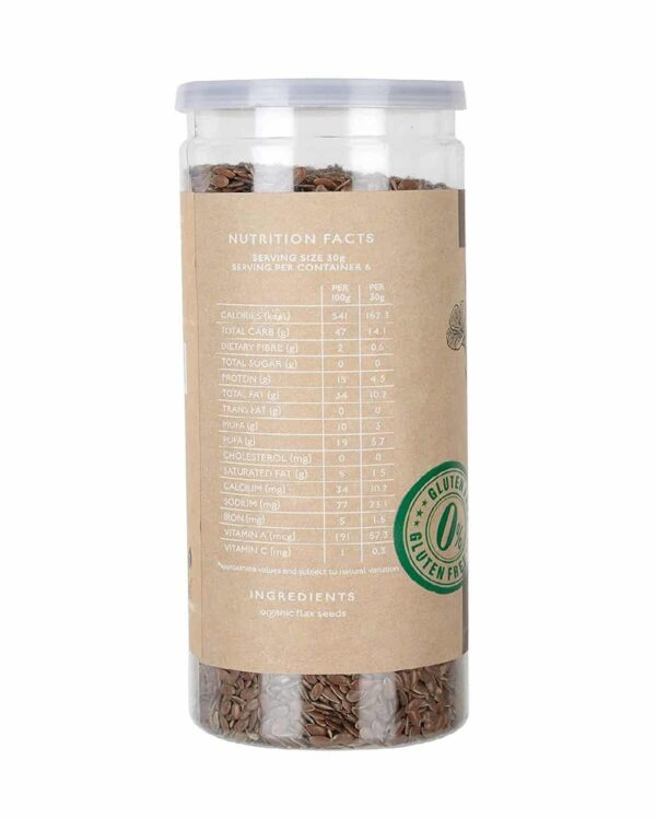 Buy Nourish Organics - Active Flax Seeds - 180g (High Protein) Online