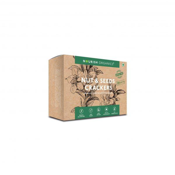 Buy Nourish Organics - Nut & Seeds Crackers - 120g Online