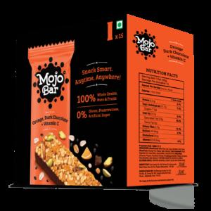Shop Mojo Bar - Orange Dark Chocolate + Vitamin C - Energy Bar - ( Pack of 15) - 480g Online