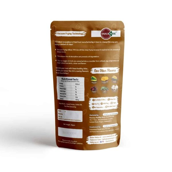 Buy SnackWise - Vacuum Fried Sweet Potato Vegetable Chips - 30g (Gluten Free) Online