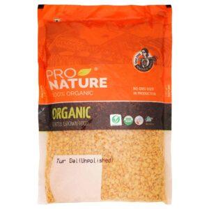 Shop Pro Nature - 100% Organic Tur Dal - 1Kg Online