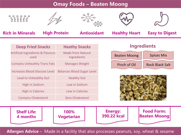 Buy Omay Foods - Potato Flakes Snacks - 50g (100% Oil Free | Vegan) Online