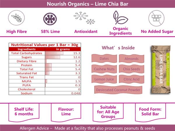 Nourish Organics Lime Chia info