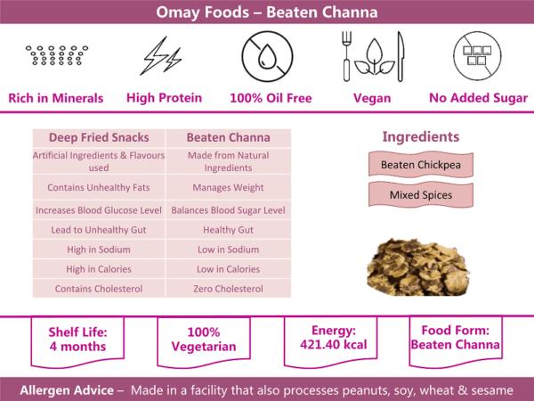 Buy Omay Foods - Potato Flakes Snacks - 50g (100% Oil Free | Vegan) Online