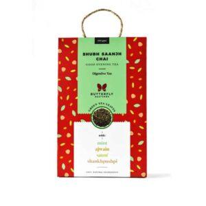 Shop Butterfly Ayurveda - Shubh Saanjh Chai (Mint + green tea) - 200g Online