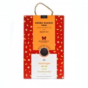 Shop Butterfly Ayurveda - Shubh Saanjh Chai (Elaichi laghu + Black tea) - 200g Online