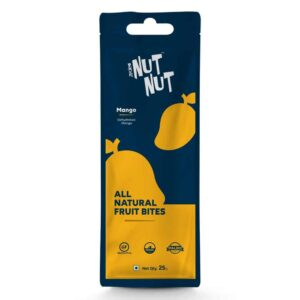 Shop Zealeo - NutNut - All Natural Mango Fruit Bites - (10 x 25g) Online