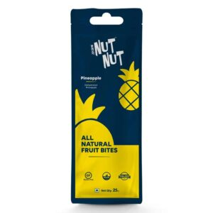 Shop Zealeo - NutNut - All Natural Pineapple Fruit Bites - (10 x 25g) Online