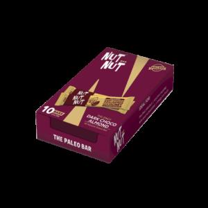 Shop Zealeo - NutNut - Gluten Free Dark Choco Almond Snack Bars - (10 x 30g) Online