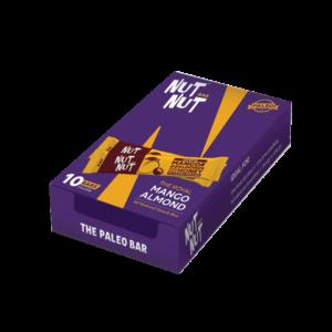 Shop Zealeo - NutNut - Gluten Free Mango Almond Snack Bars - (10 x 30g) Online