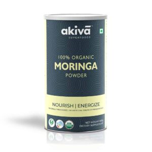 Shop Akiva - 100% Organic Nourish Moringa Powder Dietary Supplement - 100g Online