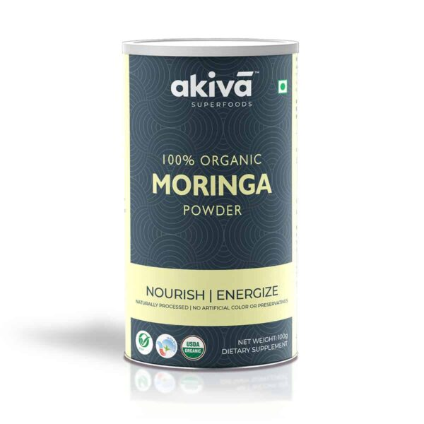 Buy Akiva - Moringa Powder Dietary Supplement - 100g (100% Organic | Energize) Online