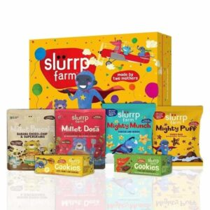 Shop Slurrp Farm - Big Celebration Box - Filled with Yummy Snacks for Kids(Pack of 6) Online