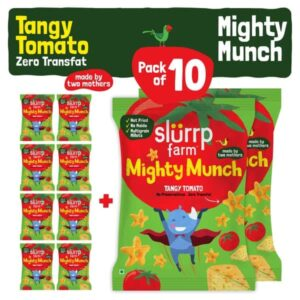 Slurrp Farm Mighty Puffs Tangy Tomato Snacks Party Pack