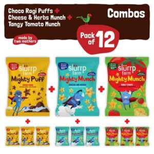 Slurrp Farm Three Awesome flavors Snacks Combo Pack of 12