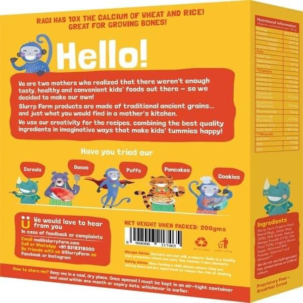 Buy Slurrp Farm - Ragi, Rice and Mango with Milk Baby Cereal - 200g (Organic) Online