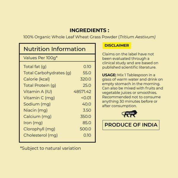 Buy Akiva - Wheatgrass Powder Dietary Supplement - 100g (100% Organic | Rejuvenate) Online