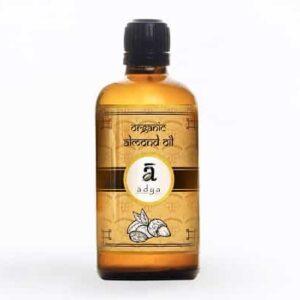 Shop Adya Organics - Cold-pressed Almond Oil - 100ml (100% Organic) Online