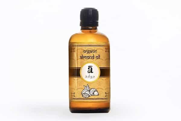 Buy Adya Organics - Cold-pressed Almond Oil - 100ml (100% Organic) Online