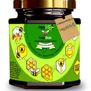 Buy Happy Nature – Happy Buzz Eucalyptus Honey – 325g (100% Pure & Natural) Online