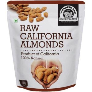 Shop Wonderland Foods - California Raw Almonds - Dry Fruit - 1Kg Online