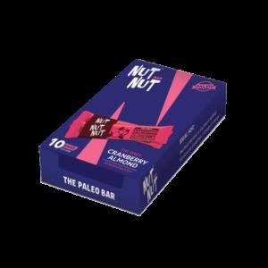 Shop Zealeo - NutNut - Gluten Free Cranberry Almond Snack Bars - (10 x 30g) Online