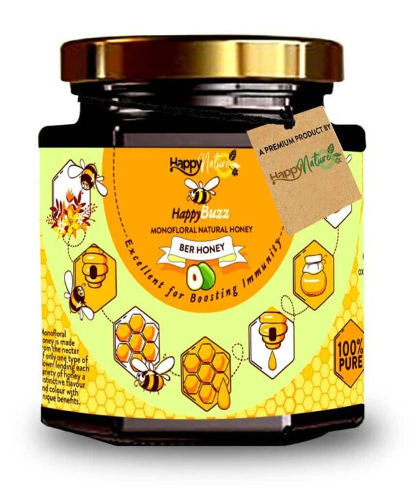 Buy Happy Nature - 100% Pure Happy Buzz Ber Honey - 325g Online