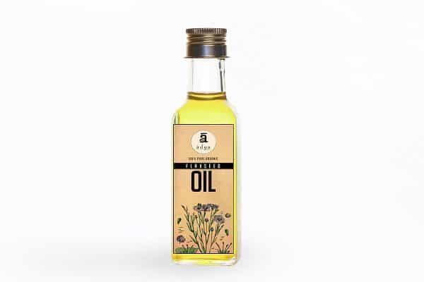 Buy Adya Organics - Cold-pressed Flaxseed Oil - 100g Online
