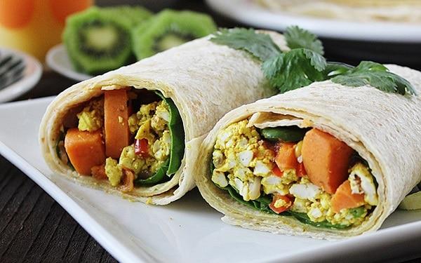 Burrito-with-Scrambled-Tofu