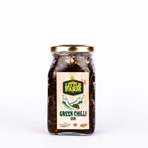 the-little-farm-co-green-chilli-gur-pickle-400g