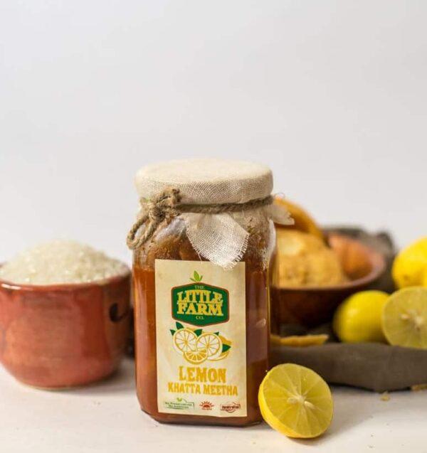 The Little Farm Co Lemon Khatta Meetha Pickle 400g