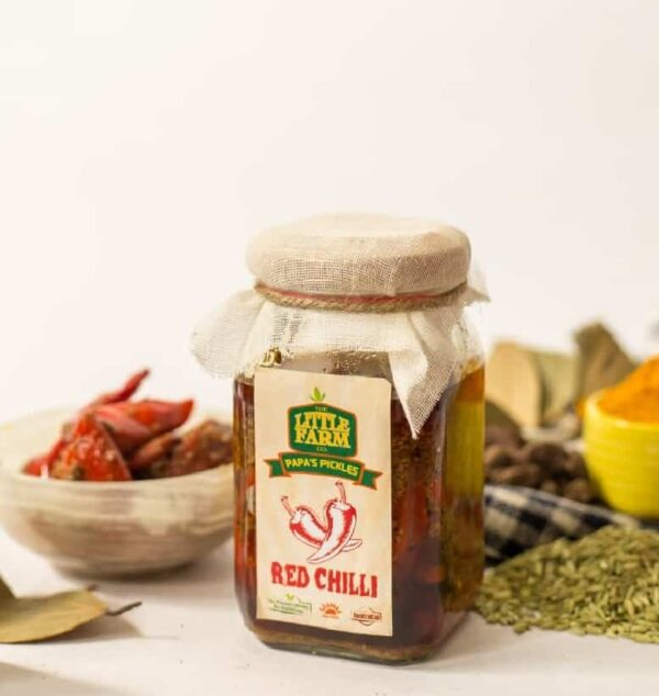Buy The Little Farm Co - Red Chilli Pickle - 400g (100% Natural | No Additives | No Preservatives) Online