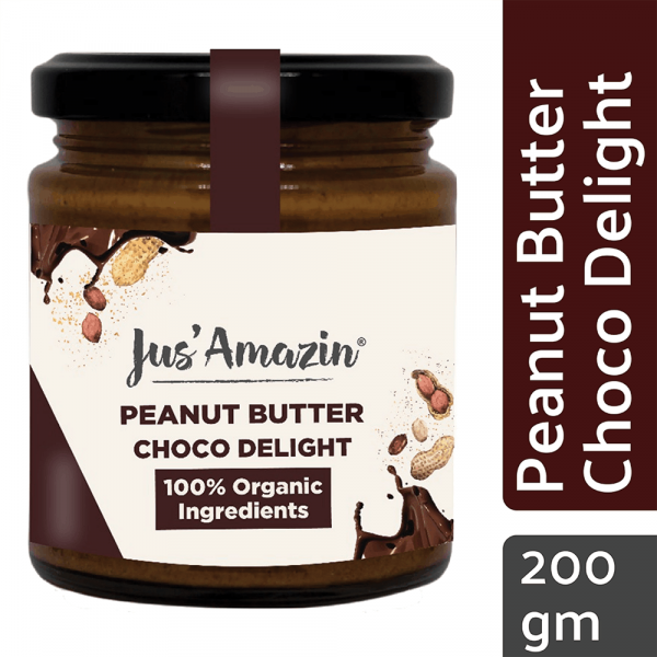 Buy Jus' Amazin - Choco Delight Peanut Butter - 200g (Organic) Online