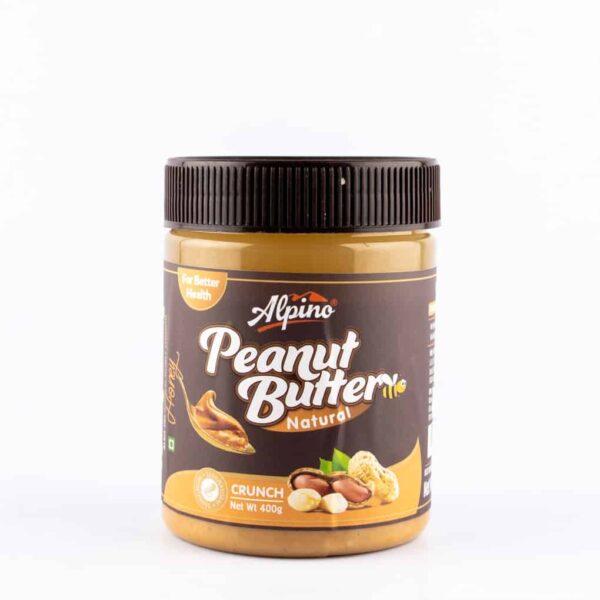 alpino honey crunch peanut butter 400g