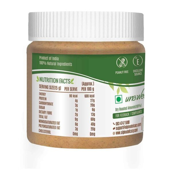 Buy Alpino - 100% Natural Almond Butter - 250g Online