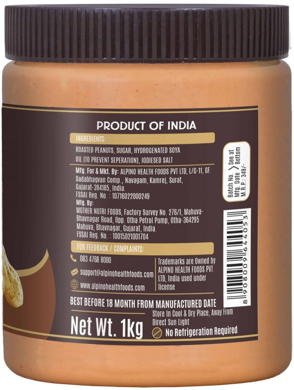Buy Alpino - Classic Crunch Peanut Butter - 1kg (Keto) Online