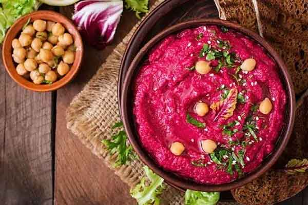 Beet Hummus healthy midnight food