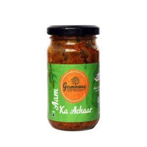 Buy Graminway - Aam Ka Achar - 200g (Handpicked Mangoes | No Preservatives) Online