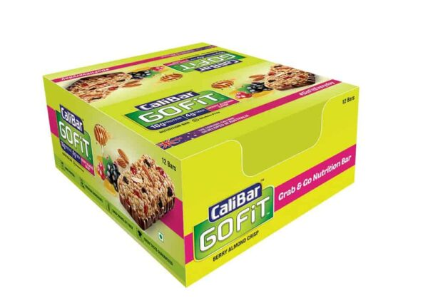 Buy CaliBar - GoFit - Berry Almond Crisp - Protein Bar - (Pack of 6 Bars) - 270g Online