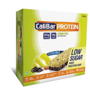 Shop CaliBar - Lemon Peel Low Sugar - Protein Bar - (Pack of 6 Bars) - 420g Online
